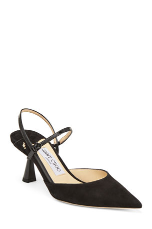 Jimmy Choo Ray Suede Slingback Pumps