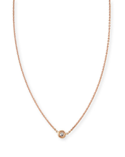 18k Gold Single Diamond Necklace
