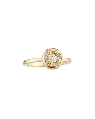 Roberto Coin 18k Gold Pave Diamond Ring
