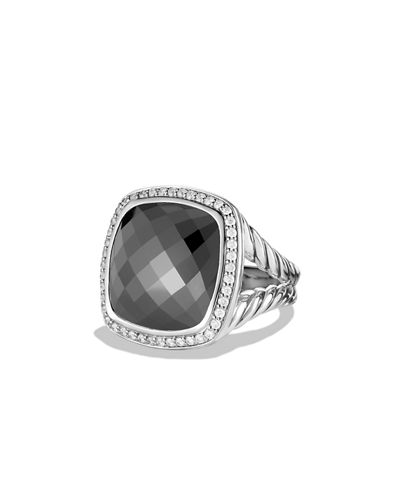 David Yurman Albion Ring with Onyx and Diamonds