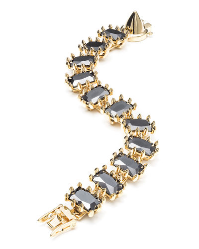 Small Rectangle Estate Bracelet, Black