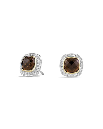 Albion Stud Earrings with Diamonds and 18k Gold