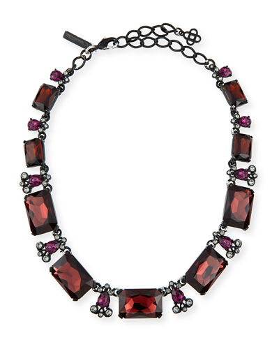Oscar de la Renta Large Octagon Stone Necklace