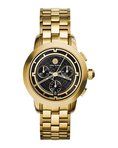 Tory Golden Chronograph Dial Watch, 37mm