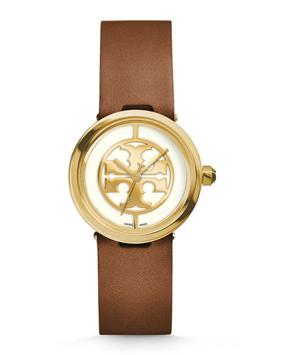 36mm Reva Leather-Strap Watch