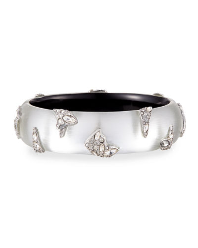 Alexis Bittar Shattered Metal Crystal Cuff Bracelet