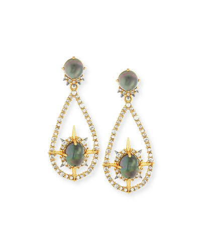 Alexis Bittar Small Crystal Teardrop Hoop Earrings