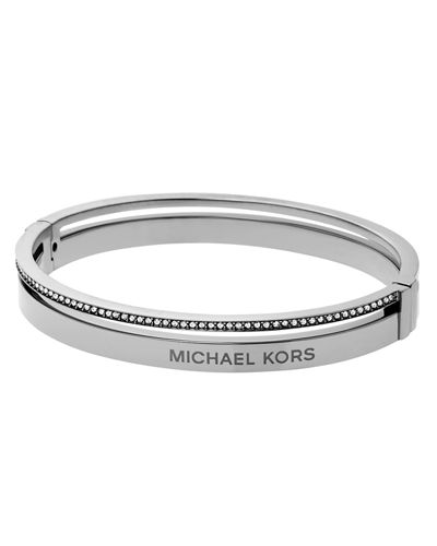 Steel Logo Bangle Bracelet