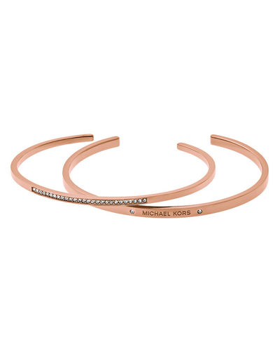 Michael Kors Double Cuff Bracelet Set