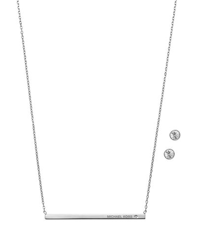 Michael Kors Pendant Necklace w/Stud Earrings