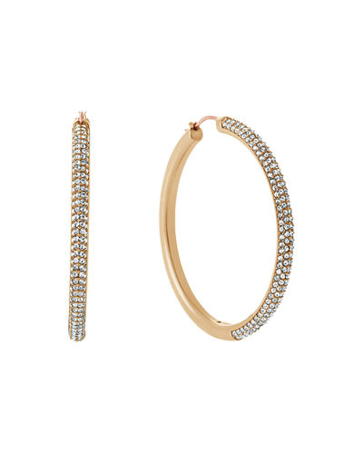 Michael Kors Park Avenue Pavé Crystal Hoop Earrings