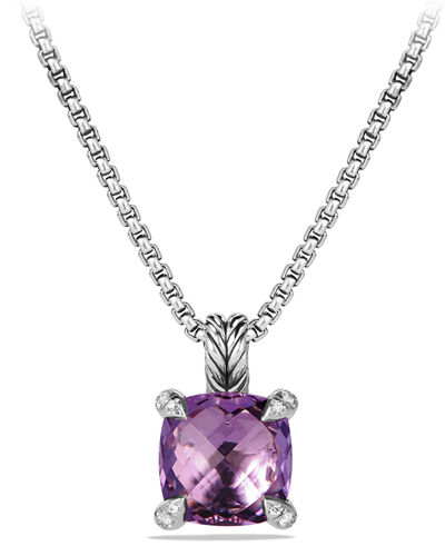 14mm Châtelaine Faceted Pendant Necklace