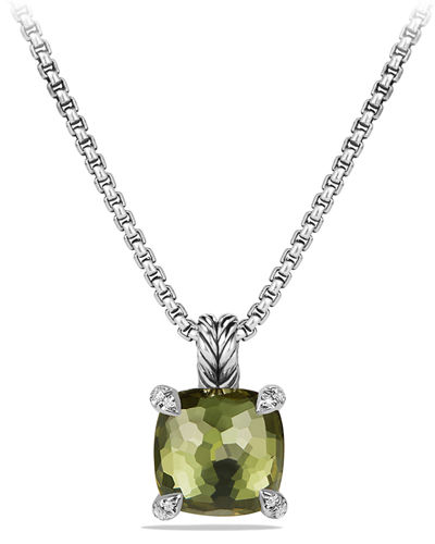 11mm Châtelaine Faceted Pendant Necklace
