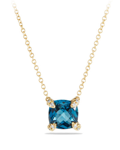 Châtelaine 7mm 18K Gold Pendant Necklace