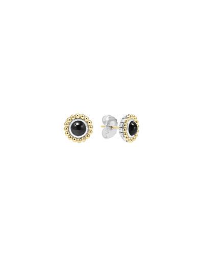 6mm 18K Caviar Stud Earrings