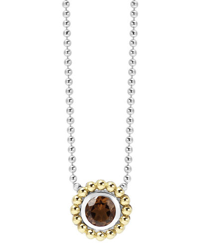 Lagos 6mm 18K Gold Caviar Pendant Necklace