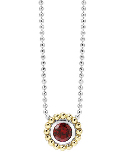 6mm 18K Gold Caviar Pendant Necklace