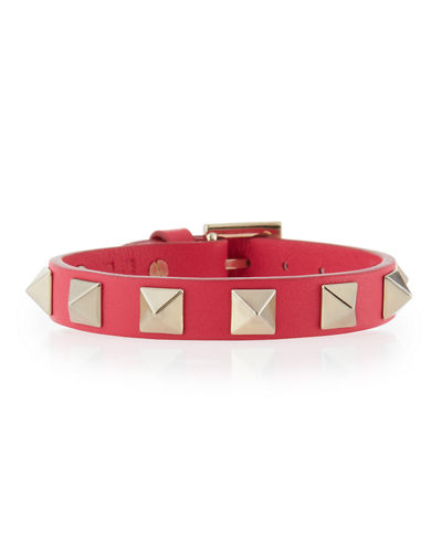 Leather Rockstud Small Bracelet