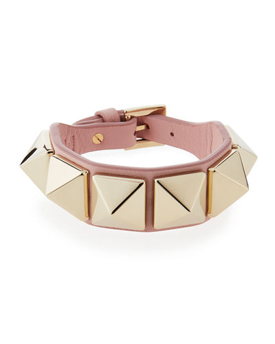 Leather Rockstud Buckle Bracelet