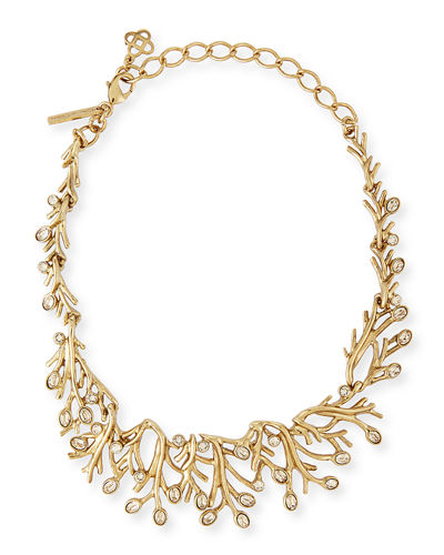 Oscar de la RentaGolden Seaweed Crystal Necklace