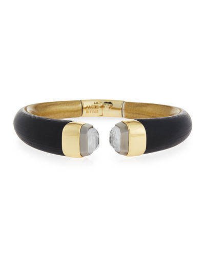 Alexis Bittar Mirrored Break Hinge Bangle Bracelet