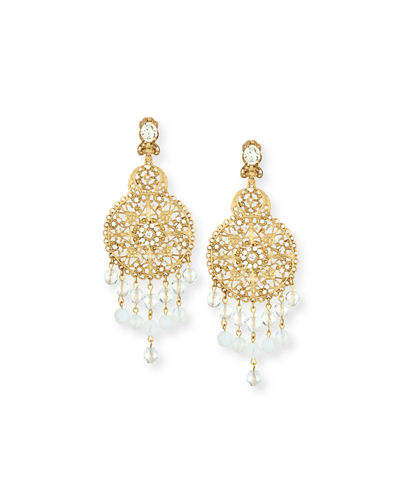 Oscar de la RentaFiligree Disc Drop Chandelier Earrings