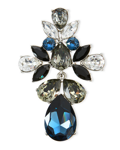 Oscar de la RentaBold Teardrop Crystal Brooch/Pendant Necklace