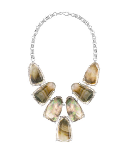 Harlow Shell Bib Necklace