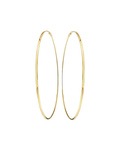 LANA Large 14K Oval Magic Hoop Earrings