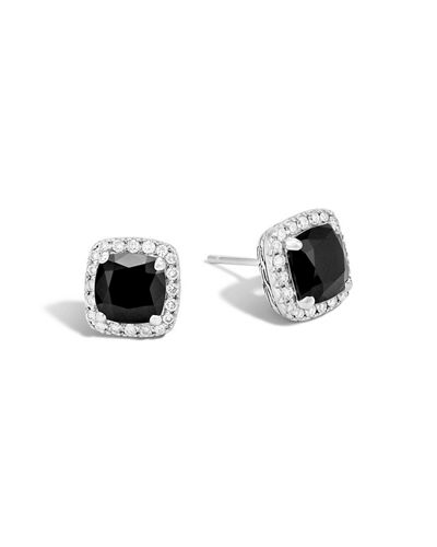 John Hardy Classic Chain Pavé Diamond Stud Earrings