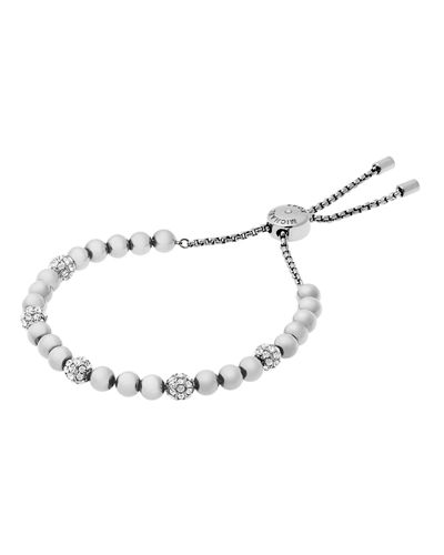 Small Crystal Bead Slider Bracelet