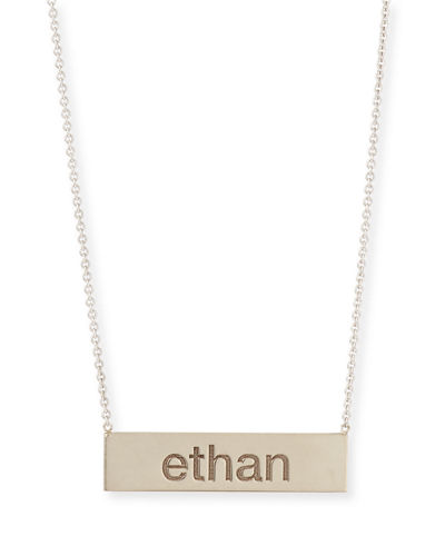 Personalized ID Bar Necklace