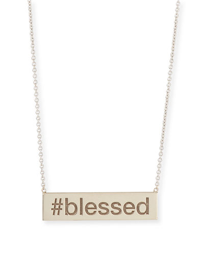Personalized Hashtag Bar Necklace