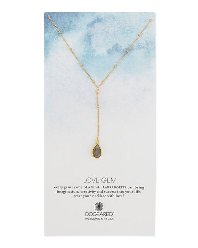 Dogeared Love Gem Beaded Y-Pendant Necklace