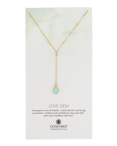 DogearedLove Gem Beaded Y-Pendant Necklace