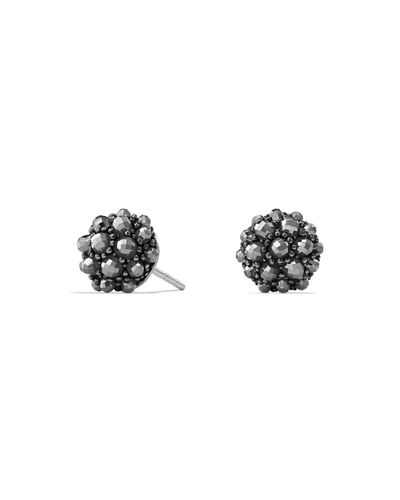 Osetra Hematine Stud Earrings