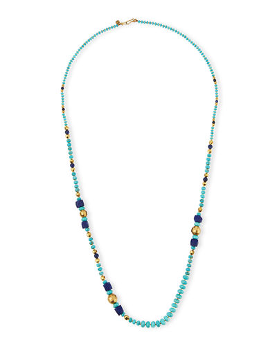 Chan Luu Long Mixed-Bead Single-Strand Necklace