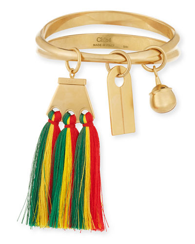 Janis Fringe Bangle Charm Bracelet