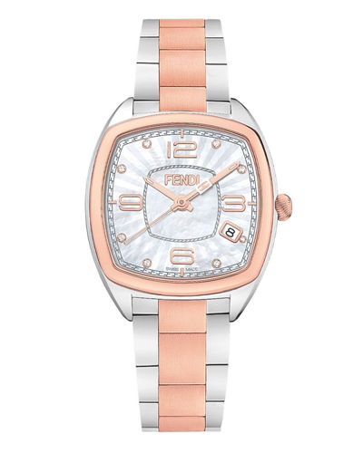 20mm Momento Stainless Steel Watch with Diamonds