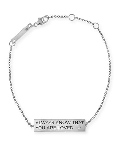 Always Know That You Are Loved 14K Gold ID Bracelet with Diamond ...