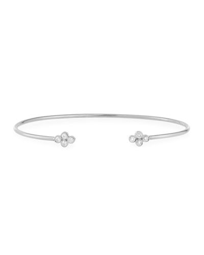 14K Gold Diamond Quad Cuff Bracelet