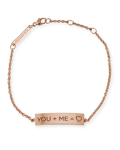 YOU + ME = ♥ 14K Gold ID Bracelet