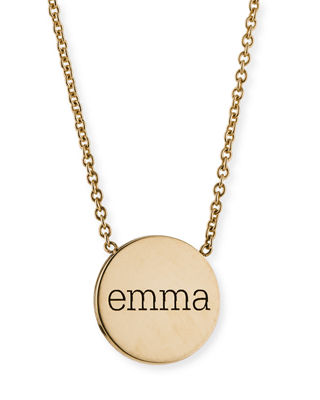 Zoë Chicco Personalized Gold Bar-Pendant Necklace, 18