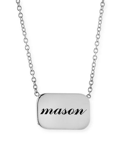 14k Personalized Name Plate Pendant Necklace