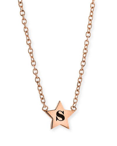 Personalized Initial Star Pendant Necklace