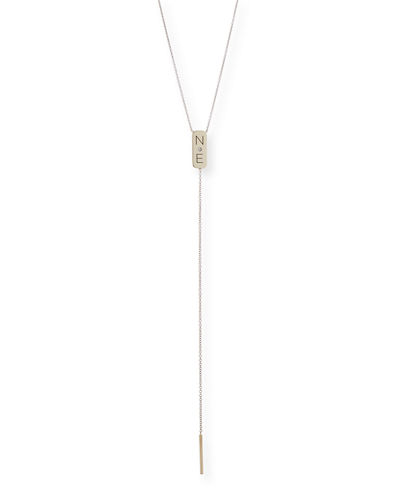 Personalized Bar Lariat Necklace