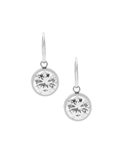 Crystal Bezel Drop Earrings