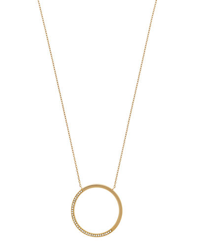 Open Circle Pavé Crystal Pendant Necklace