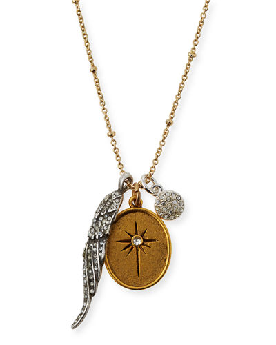 SequinGolden Two-Tone Talisman Necklace