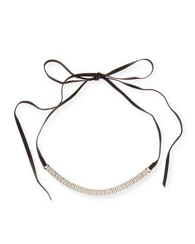 Fallon Armure Watch Strap Leather Choker Necklace
